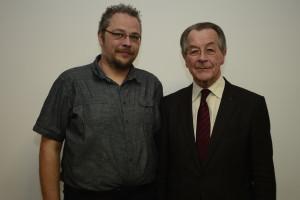 Marc Schenk mit Franz Müntefering