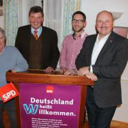 v. l. Seppl Blenk, Harald Schneider, Sven Gottschalk, Bernd Rützel